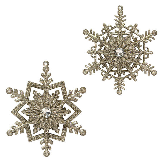 Modern Twist Snowflake Star Ornament - Silver - 5in