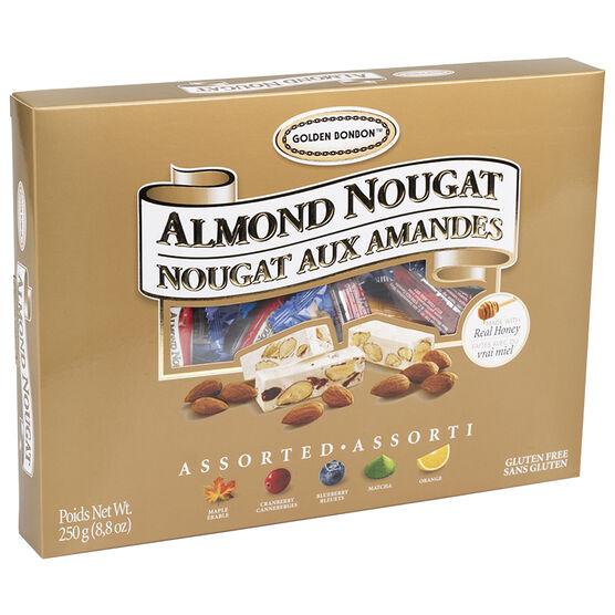 Golden Bonbon Almond Nougat - Assorted - 250g