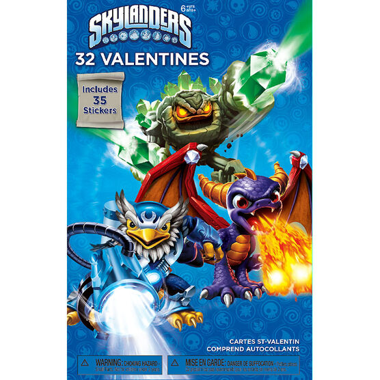 Plus Mark Skylanders Valentine's Day Cards - 32 pack