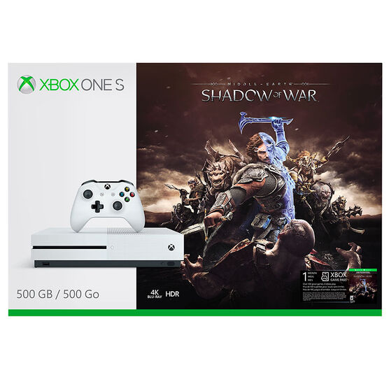 Xbox One S 500GB Console Middle Earth: Shadow of War Bundle