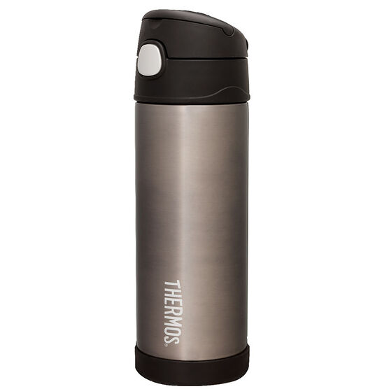 Thermos Thermos Vacuum Bottle with Straw - Charcoal - 490ml