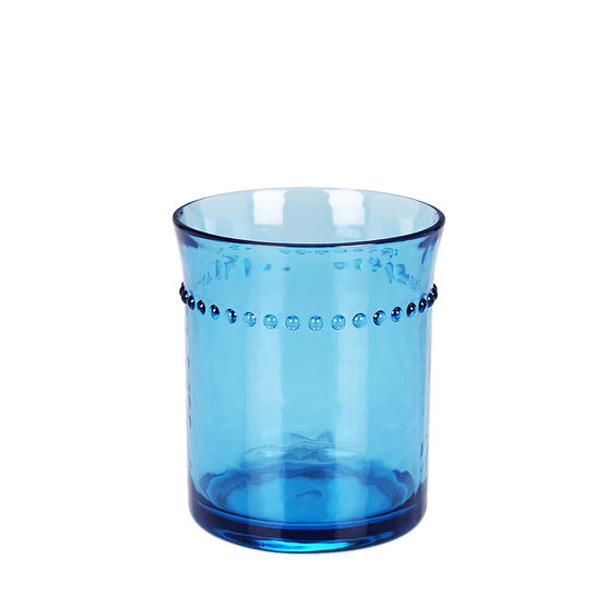 London Drugs Double Old Fashion Beaded Tumbler - Blue - 14oz