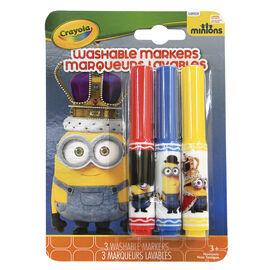 Crayola Minions Washable Markers - British Invasion - 3 pack