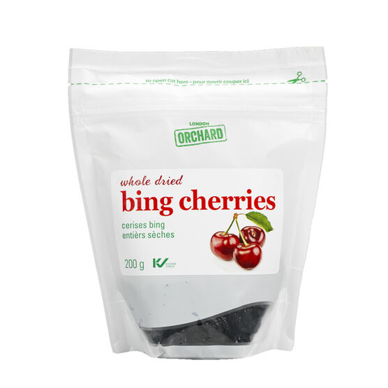 London Orchard Whole Dried Bing Cherries - 200g