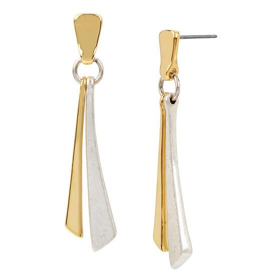 Robert Lee Morris Shaky Stick Earrings - Two Tone
