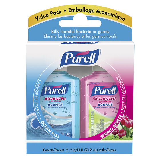 Purell Instant Hand Sanitizer Value Pack - Ocean Kiss/Spring Breeze - 2x59ml