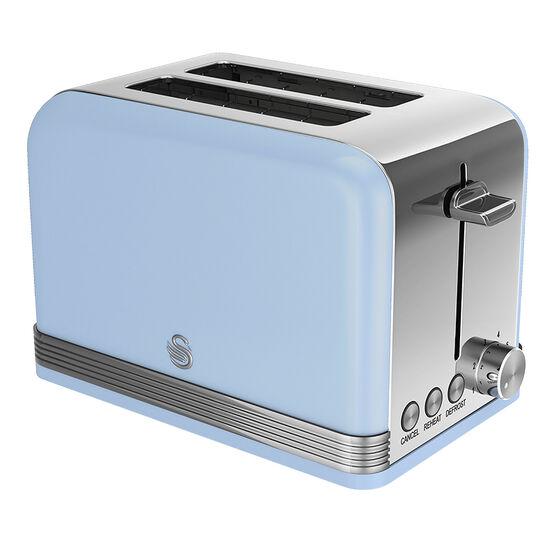 Swan Retro Toaster - Blue - 2 Slice
