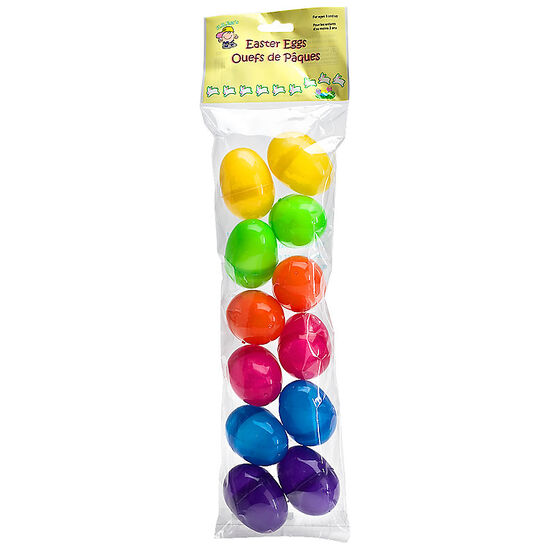 Easter Bright Filler 2.5in Eggs - 12's