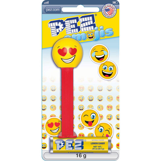 Pez Emoji's Dispenser - Assorted - 16.4g