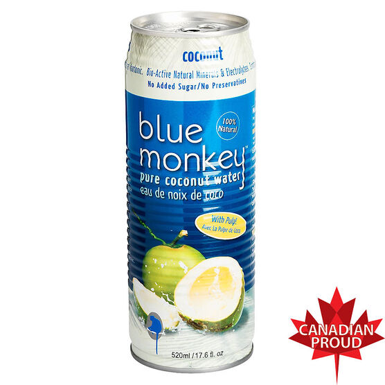 Blue Monkey Pure Coconut Water with Pulp - 520ml