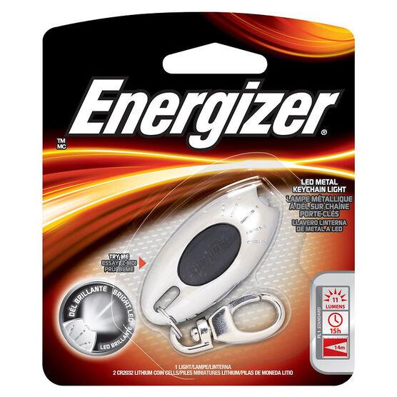 Energizer Metal LED Keychain Light - MLKC2BUCS