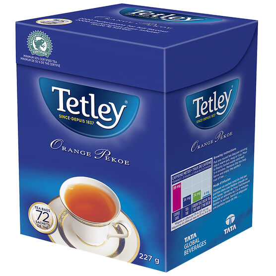Tetley Orange Pekoe Tea - 72's