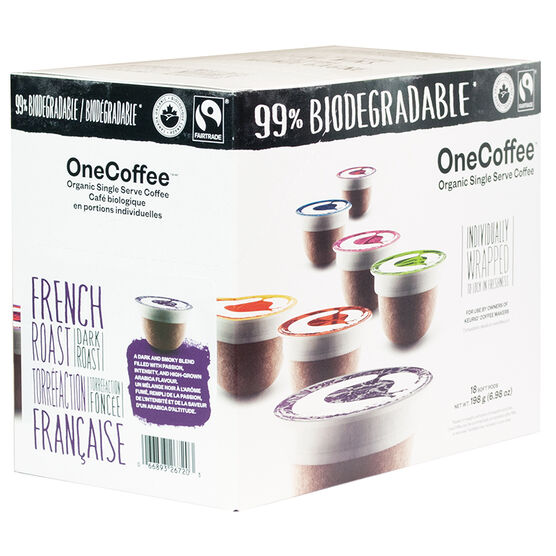 OneCoffee Single Use Soft Pods - French Roast - 18's