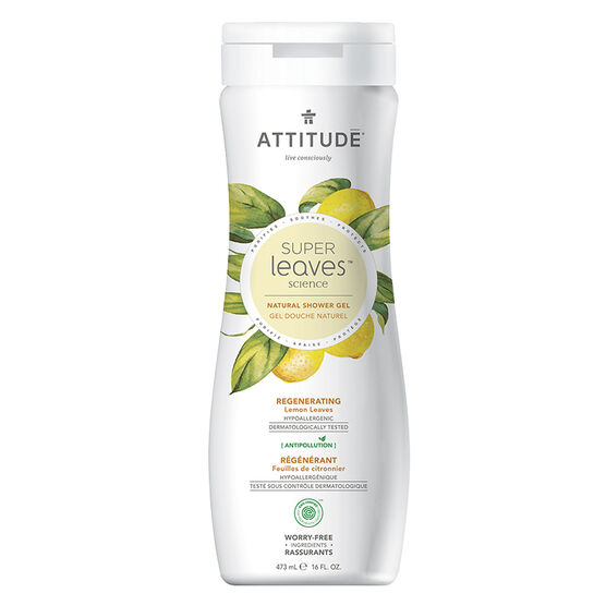 Attitude Super Leaves Science Natural Shower Gel - Regenerating Lemon Leaves - 473ml