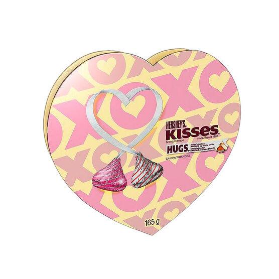 Hershey Hugs & Kisses Heart - 165g