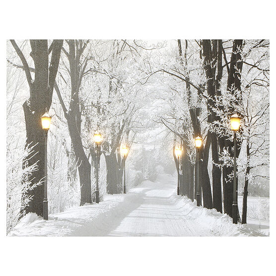 Christmas Forever Canvas - Light Posts - 12 x 16in