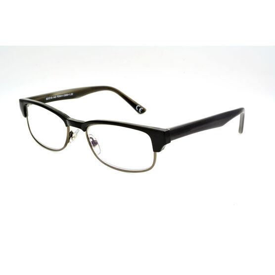 Foster Grant Cartwright Reading Glasses - Black/Chrome - 1.75