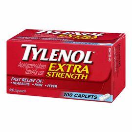 Tylenol* Caplets - Extra Strength 500mg - 100's