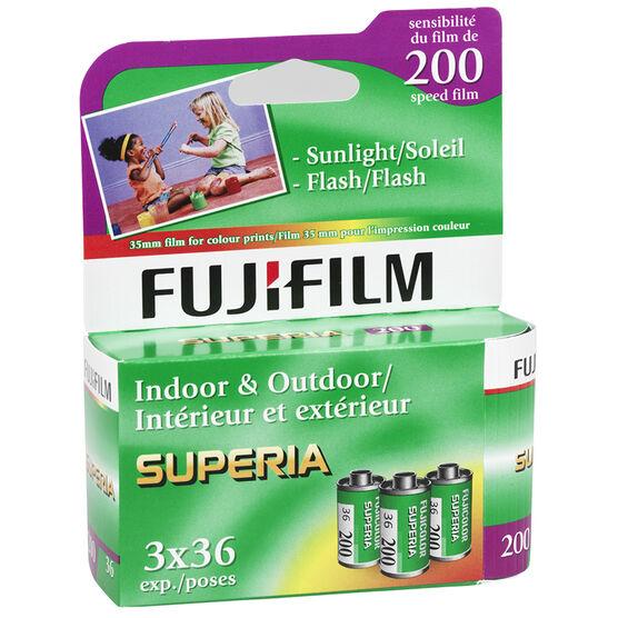 Fujicolor Superia 200 - 3x36 exp. - 600018227