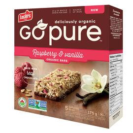Leclerc Go Pure Organic Bars - Raspberry & Vanilla - 5 Pack