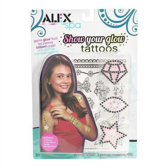 Alex Show Your Glow Tattoos