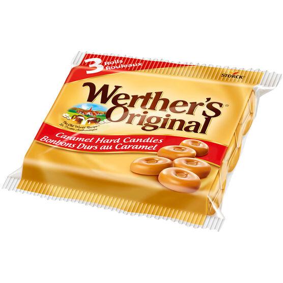 Werther's Original Hard Candy - Caramel - 3 rolls