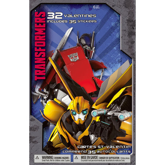 Plus Mark Transformers Valentine's Day Cards - 32 pack