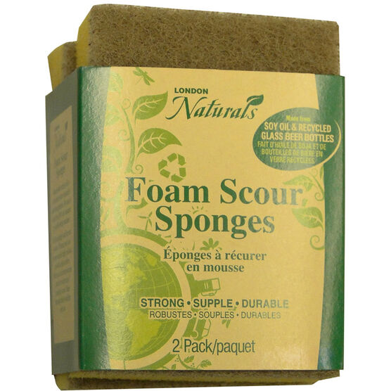 London Drugs Natural Foam Scour Sponge - 2's