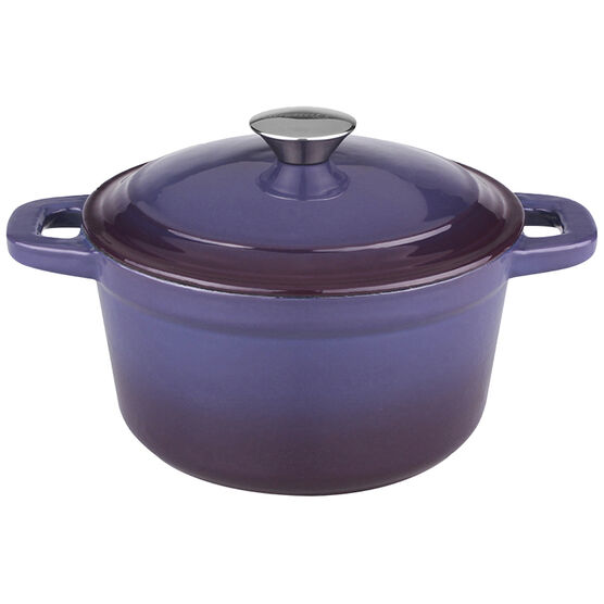 Neo Cast Iron Round Covered Casserole - Purple - 5qt