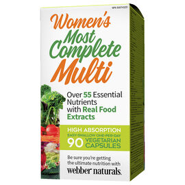 Webber Naturals Women's Most Complete Multi - 90's
