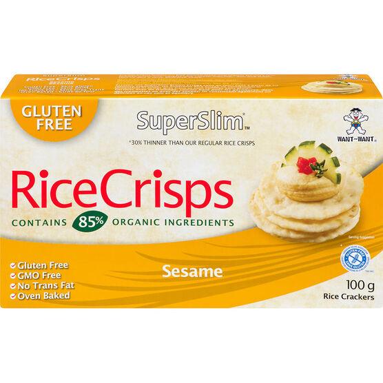 SuperSlim Rice Crisps - Sesame - 100g