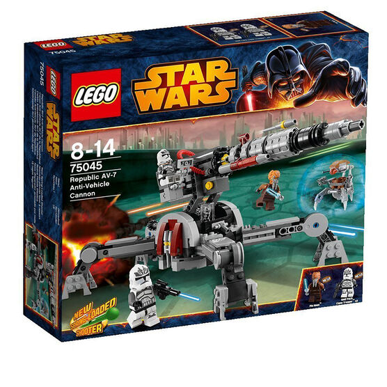 Lego Star Wars Republic AV-7 Anit-Vehicle Cannon - 75045