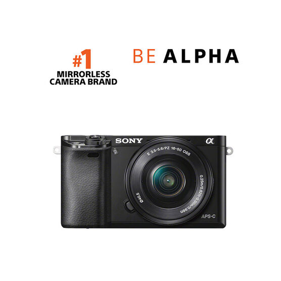 Sony a6000 with 16-50mm Lens - Black - ILCE6000LB