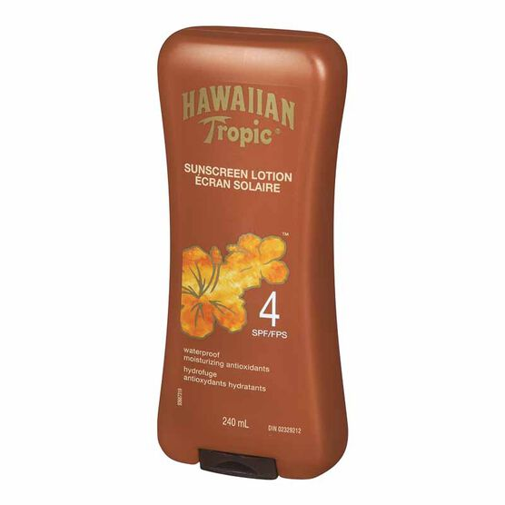 Hawaiian Tropic Tanning Lotion - SPF 4 - 240ml