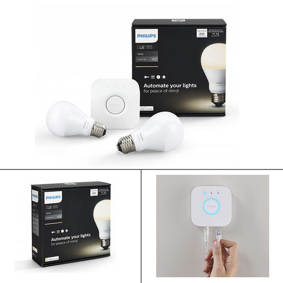 Philips Hue A19 LED Starter Kit - White - 458983