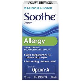 Bausch & Lomb Soothe Allergy Decongestant Eye Drops - 15ml