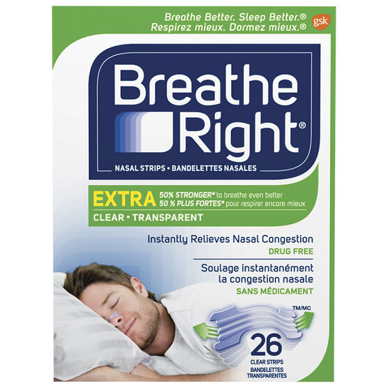 Breathe Right Nasal Strips Extra - Clear - 26's