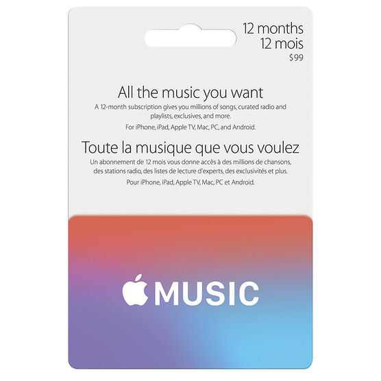 Apple Music Fast Card - 12 Month