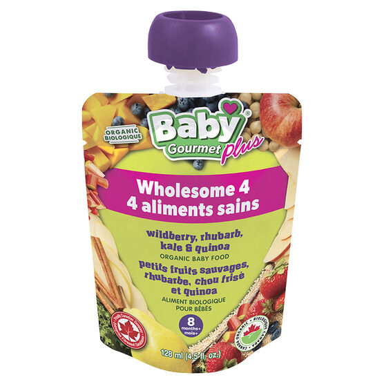 Baby Gourmet Baby Food - Wildberry, Rhubarb, Kale and Quinoa - 128ml