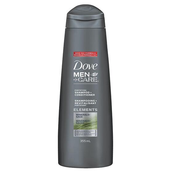 Dove Men+Care Elements Minerals+Sage Shampoo & Conditioner - 355ml