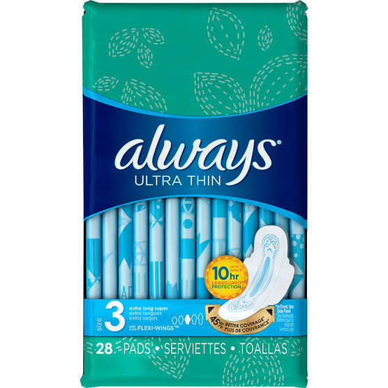 Always Ultra Thin Size 3 - Extra Super Long - 28's