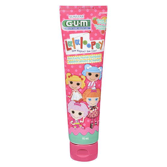 G.U.M. Lalaloopsy Fluoride Toothpaste - Fresh & Fruity - 92ml