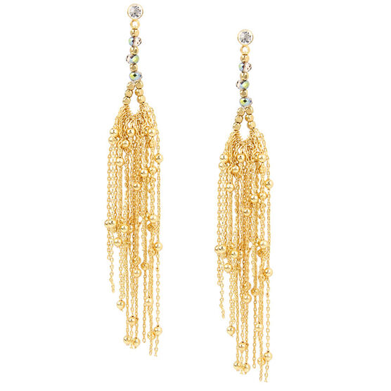 Haskell Chain Cluster Earrings - Neutral/Gold