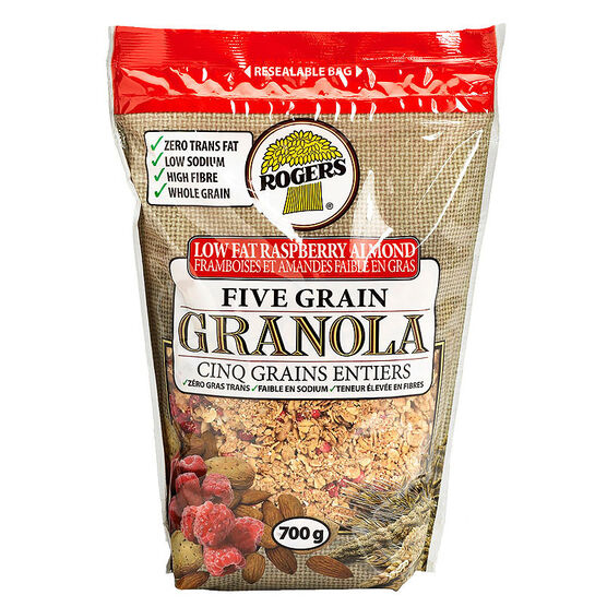 Rogers Granola - Low Fat - Raspberry Almond - 700 g