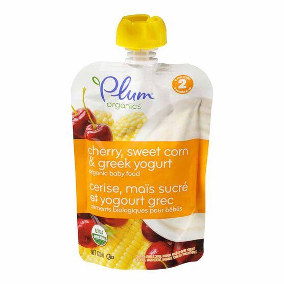 Plum Organics - Cherry, Corn and Yogurt - 128ml