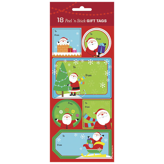 Christmas Fun Santas Gift Tags - 18s
