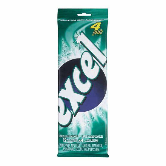 Excel Gum - Chlorophyll - 4 pack