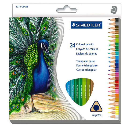 Staedtler Triangular Coloured Pencils - 24 Pack