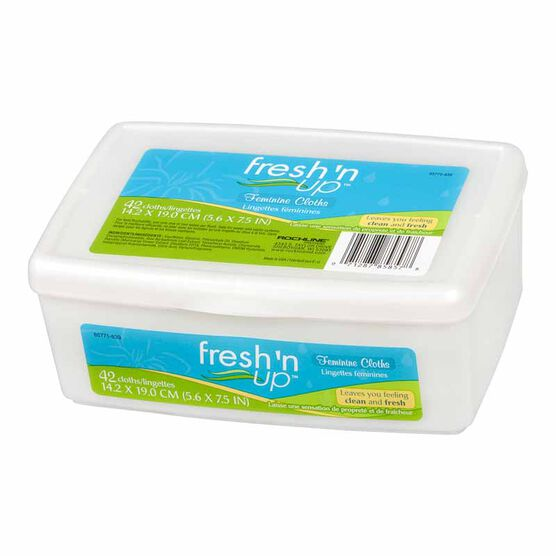 Fresh 'N Up Feminine Wipes - Tub - 50's