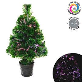 Danson LED Fibre Optic Tree - Multi - 80's